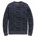 PME Legend R-neck cotton jaquard salute blauw