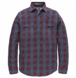 PME Legend Long sleeve shirt check melvin chocolate truffle rood