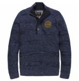 PME Legend Half button collar cotton ghibli estate blue blauw