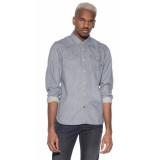 Scotch & Soda Casual shirt met lange mouwen grijs