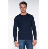 Denham Pullover o-hals blauw