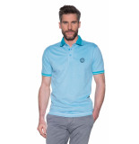 Campbell Polo met korte mouwen licht blauw