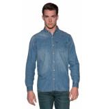 Denham Casual shirt met lange mouwen blauw