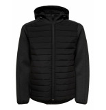 First Brion quilted zip hood jacket 041985 zwart