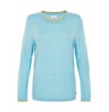 Numph New ahna pullover cordydalis blue blauw