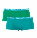 Muchachomalo Girls 2-pack short solid/solid blauw