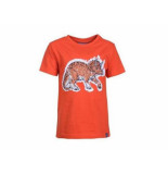 Someone Shirt korte mouw dinosaur magi oranje