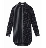 Sandwich 22001646 40138 blouse woven long sleeves graphite