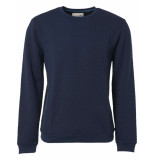 No Excess Sweater, r-neck, double layered jac night blauw