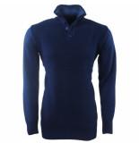 MZ72 Heren trui fijn gebreid safy blauw