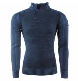 Wildstream Heren trui fijn gebreid seribel blauw