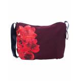 Oilily Schoudertas roses burgundy- rood