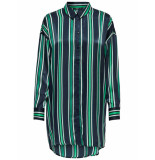Only Onlmabel ls long shirt wvn night sky/new preppy zwart