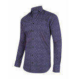 Cavallaro Overhemd all-over subtle print purple paars