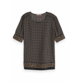 Maison Scotch Allover printed top zwart