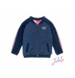 Jubel Sweatvest uni sea view navy blauw