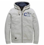 PME Legend Psw191404 921 hooded jacket brushed sweater light grey melee wit