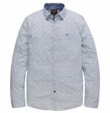 PME Legend Psi191206 7003 long sleeve shirt stretch poplin print herbie bright white wit