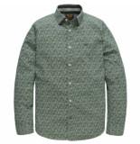 PME Legend Psi191206 6082 long sleeve shirt stretch poplin print herbie jasper groen
