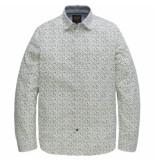 PME Legend Psi191202 6082 long sleeve shirt poplin print sherman jasper wit