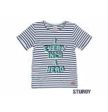 Sturdy Shirt korte mouw streep every indigo blauw