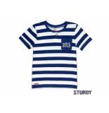 Sturdy Shirt korte mouw streep scuba indigo blauw
