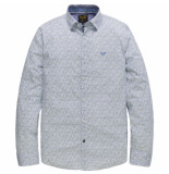 PME Legend Long sleeve shirt stretch poplin pr bright white blauw