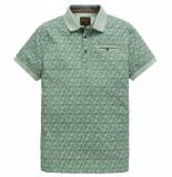PME Legend Ppss191854 6174 short sleeve polo single jersey aop aqua foam groen