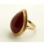 Christian Gouden agaat ring geel goud