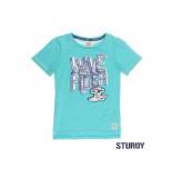Sturdy Shirt korte mouw wave rider sc aqua blauw