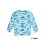 Sturdy Sweater aop scuba mint groen