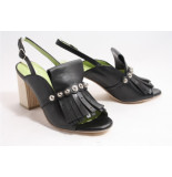 Lilian 11476b pumps open hiel zwart