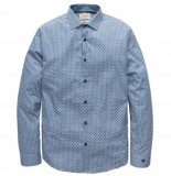 Cast Iron Csi191615 5307 pme legend long sleeve shirt cf 3d graphic raster vallarta blue blauw
