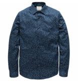 Cast Iron Csi191600 5118 pme legend long sleeve shirt cf structure clock print dress blues blauw