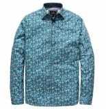 Vanguard Vsi191402 5218 long sleeve shirt cf poplin print green groen