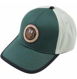 PME Legend Cap washed cotton twill color bloc jasper groen