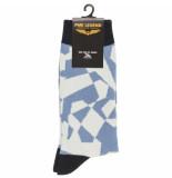 PME Legend Sock box cotton mix socks aegean blue blauw