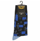 PME Legend Sock box cotton mix socks salute blauw