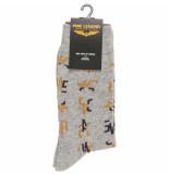 PME Legend Sock box cotton mix socks grey melee grijs