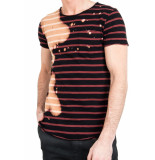 Tigha Leno stripes rust red/black zwart