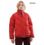 Elvine Lisen puffer jacket dames rood