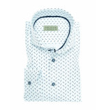 John Miller Overhemd tailored fit detailed white wit