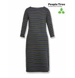 People Tree Lucille streep jurk blauw