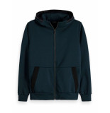 Scotch & Soda Zip-thru hoodie sweat cardigan blauw