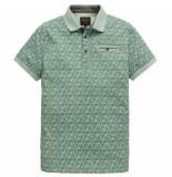 PME Legend Short sleeve polo single jersey ao aqua foam groen