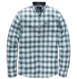 Vanguard Long sleeve shirt check lagoon blauw