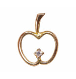 Christian Gouden appel hanger met diamant geel goud