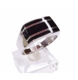 Atelier Christian Zilveren ring met onyx geel goud