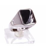 Atelier Christian Zilveren heren ring met onyx geel goud