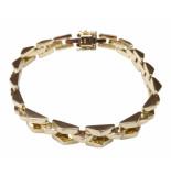 Christian 14 karaat gourmette armband geel goud